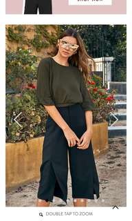 Angess blouse in olive