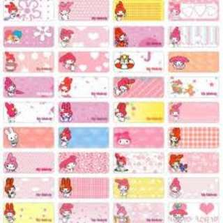 Name Stickers - Melody & Friends