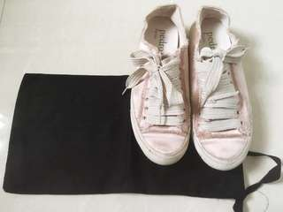 Pedro Garcia Pink Satin Platform Sneakers (Bought from Lane Crawford HK)