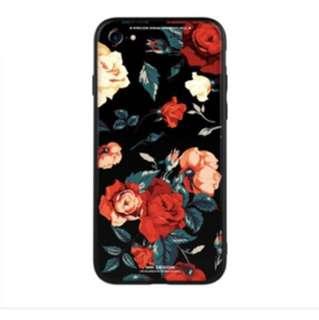 iPhone x/7/6s Glass Back Case  創意手繪 手機/電話鋼化玻璃殼