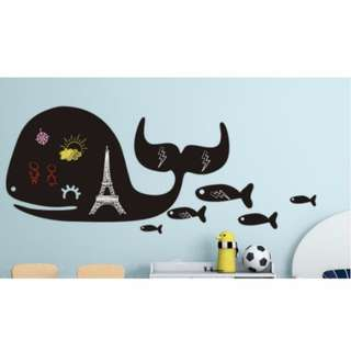 [Mix&Match:2@$25] Whales Wall Sticker/ Decal/ Kids/ Children/ Nursery/ Bedroom/ Living/ Wall Decal/ Sticker/ Mural Wallpaper/ Home/ Birthday/ Party Decor/ Backdrop/ Centrepiece/ Props/ Accessories/ Removable