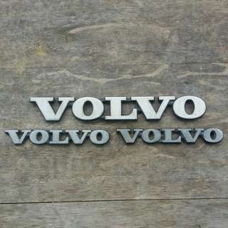VOLVO 1980s - 1990s 200 SERIES REAR BUMPER & SIDE RL FENDER EMBLEM BADGES
