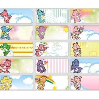Name Stickers - Carebears