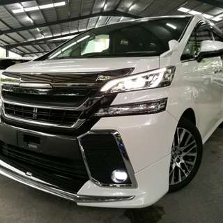 Toyota Vellfire 2.5 ZG (A) Year 2015. UNREGISTERED