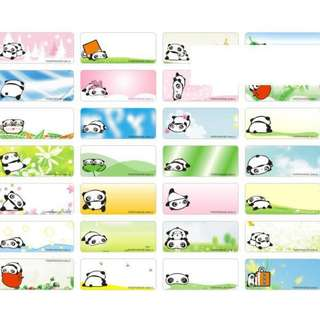 Name Stickers - Tare Panda