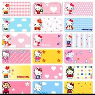 Name Stickers - Hello Kitty