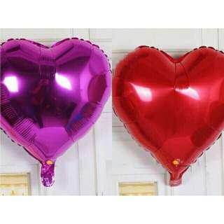 Heart foil balloons 💙