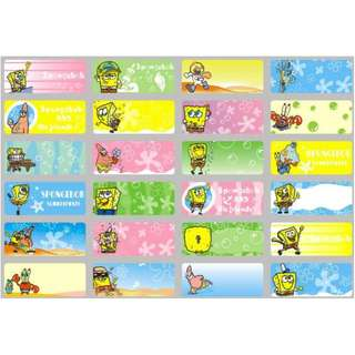 Name Stickers - Spongebob