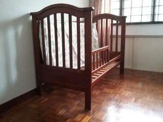 Baby Cot - New born to 5 yr old (Like New Condition)