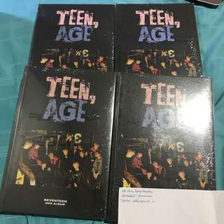 [SEALED] Seventeen SVT 2nd Album Teen Age
