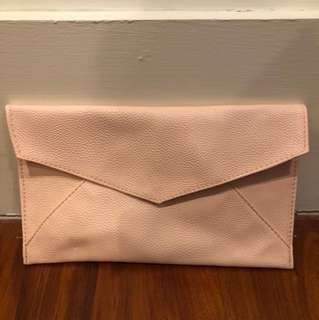 Baby pink clutch