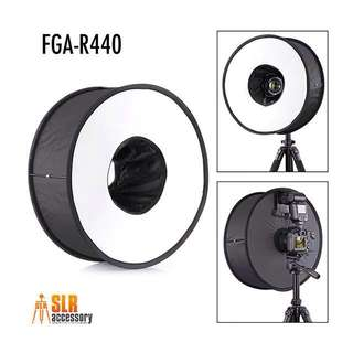 FGA RoundFlash Universal Collapsible Magnetic Ring Flash Diffuser 44cm for Macro & Portrait Shooting …