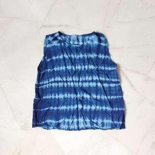 Blue Tie Dye Tee