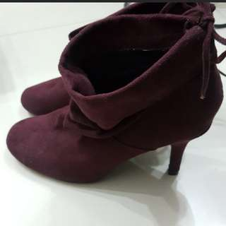 New Debenhams collection purple ankle boots