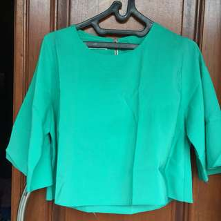 Batwing crop blouse