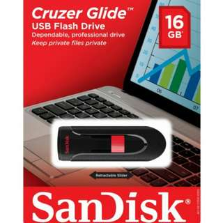 SanDisk Cruzer Glide USB Flash Drive 16GB