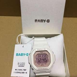 全新Baby G 白色防水錶