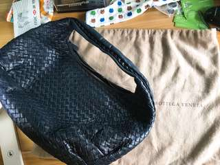 Bottega Veneta (Bv) classic dark blue bag