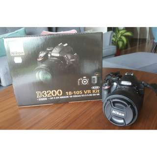 Nikon D3200 w/ 18-105mm VR Lens (Black)