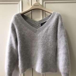 🚚 日本JILLSTUART灰藍色毛海毛衣