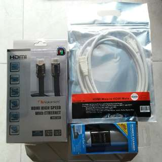 NHC-500 HDMI Cable & HDMI Male to Male Cable