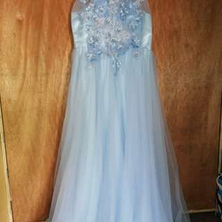 Bella Bianca/ Powder blue Gown for sale..