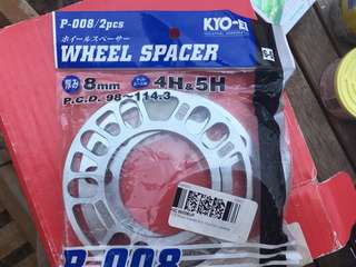 KICS wheel Spacer 8mm Universal