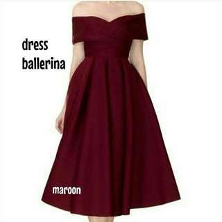 Dress maroon ballerina