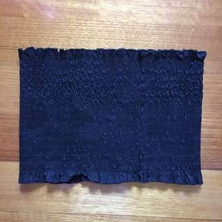 Ribbed bandeau black