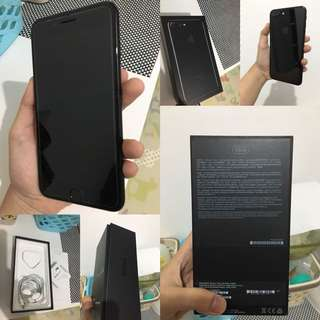 Iphone 7plus jetblack 128gb