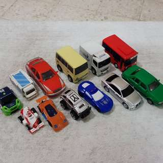 Mixed toycars