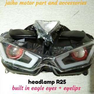 headlamp r25 built in eagle eyes and eyelips