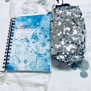 💯Authentic Laneige Notebook & Sequin Pouch