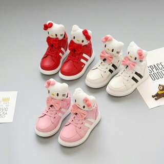 FREE POS 😍😍3D Cute Hello Kitty PU Boot for Toddler And Kids