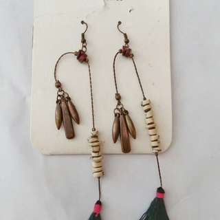 Stradivarius Tassel Earrings