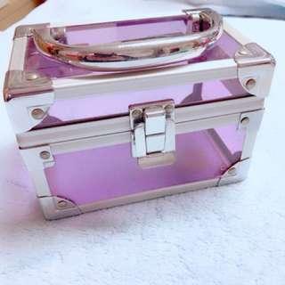 時尚紫色透明收納箱 鋁邊