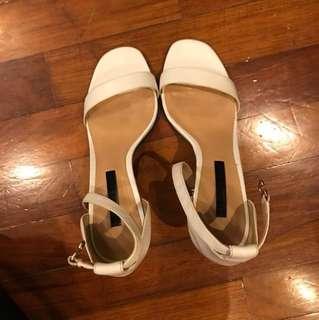 Charles & Keith White High Heel Sandal