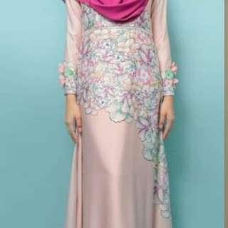 Minaz Lara Carnation Dress in Peach