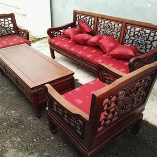 Rosewood sofa set 3+1+1+coffee table