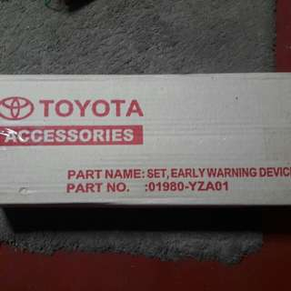 Genuine Toyota Early Warning Device