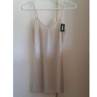 Nude slip dress
