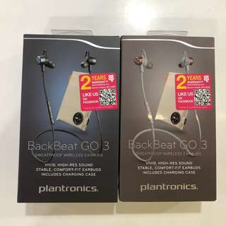 Plantronics BackBeat Go 3 Charge - Black Blue / Grey Copper