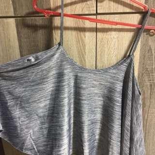 BN Sleeveless Grey Marble Crop Top