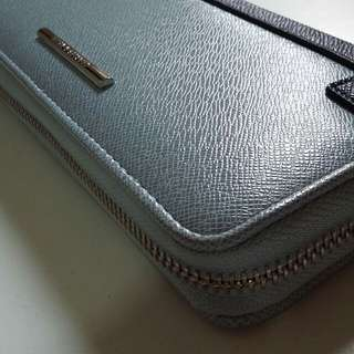 Charles and Keith Blue long wallet New