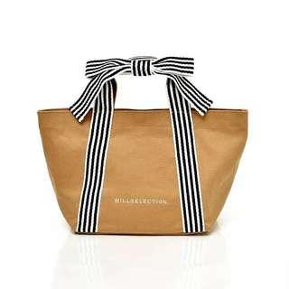 PO Fashion Ribbon Handle Canvas Bag