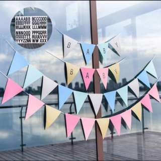 Customise your own letter pennants