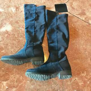 Guess Suede Blue Boots 7M