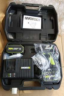 Worx新版wu294無刷衝擊批 175扭力 配5.0ah兩電 一個6A快充电器