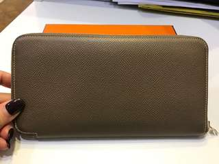 💯 Real Hermes Etoupe Silk Wallet