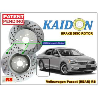 "Volkswagen Passat brake disc rotor KAIDON (REAR) type ""RS"" / ""BS"" spec"